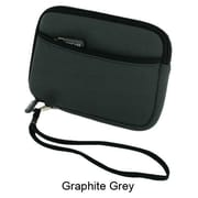 rooCASE Neoprene Sleeve Carrying Case for Portable Hard Drive and 4.3'' GPS; Berry Blue