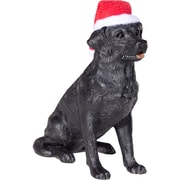 Sandicast Labrador Retriever Christmas Ornament; Black