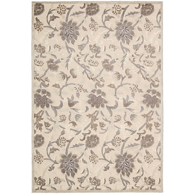 Nourison Graphic Illusions Ivory Floral Area Rug; 3'6'' x 5'6''