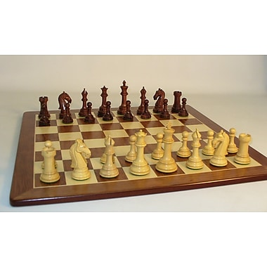 WorldWise Chess Rosewood Camelot on Padauk Chess Board
