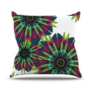 KESS InHouse Bright Polyester Throw Pillow; 18'' H x 18'' W