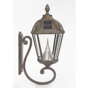 Gama Sonic Royal Seven-LED Solar Light Fixture on Wall Sconce