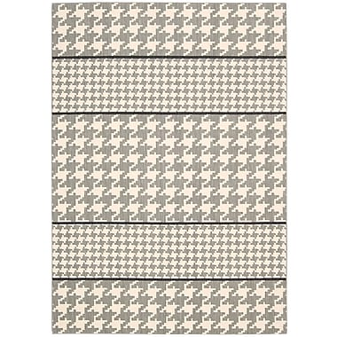 Joseph Abboud Griffith Dove Ivory/Grey Geometric Area Rug; Runner 2'3'' x 7'5''