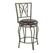 OSP Designs Cosmo 24'' Swivel Bar Stool with Cushion
