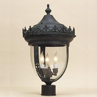 JVI Designs Outdoor 3-Light Lantern Head; Verde
