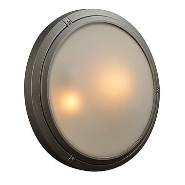 PLC Lighting Ricci-II 2-Light Outdoor Flush Mount; Bronze