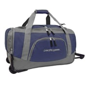 Pacific Gear 20'' Carry-On Rolling Duffel Bag; Navy and Gray