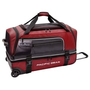 Pacific Gear 30'' Drop-Bottom Rolling Duffel Bag; Red