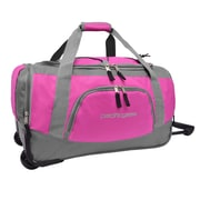 Pacific Gear 20'' Carry-On Rolling Duffel Bag; Pink and Gray