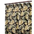 Ellis Curtain Valerie Polyester Jacobean Floral Print Shower Curtain; Black