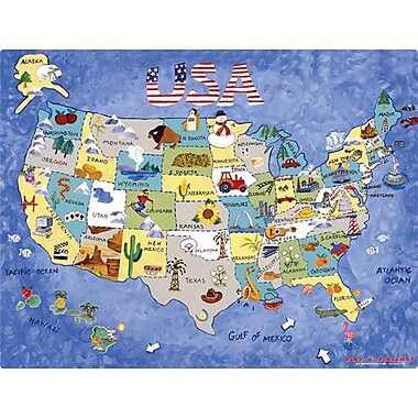 Magic Slice USA Map Play Placemat