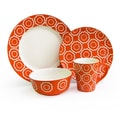 American Atelier Trellis 16 Piece Dinnerware Set; Orange