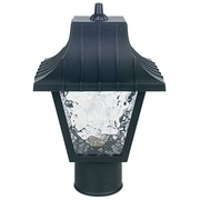 Sunset Lighting 1 Light 8'' Glass Outdoor Post Lantern