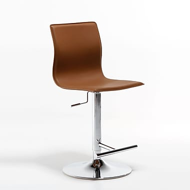 Matrix Klub 22'' Adjustable Swivel Bar Stool; Camel