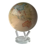 MOVA 8.5'' Globe with Crystal Base in Antiqued Beige