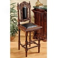 Design Toscano Charles II Gothic Bar Stool with Cushion