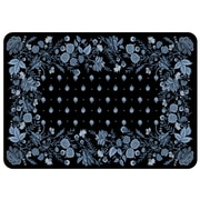 Bungalow Flooring Palazzo Decorative Mat; Black Chambray