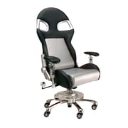 Pit Stop Furniture Chair with Lumbar Support; Silver