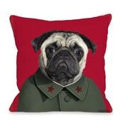 One Bella Casa Pets Rock China Throw Pillow; 18'' x 18''