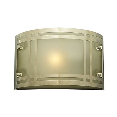 PLC Lighting Oslo 1 Light Outdoor Flush Mount; Incandescent