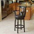 Home Loft Concept Jennings Armed Swivel Barstool; Espresso