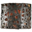 Uttermost Alita 1 Light Naturals Champagne Wall Sconce; Aged Black Metal