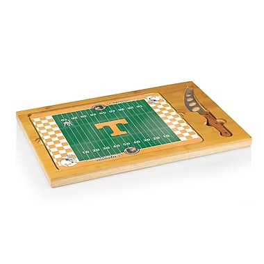 Picnic Time NCAA Football Icon Cutting Cheese Tray; University of Tennessee Volunteers