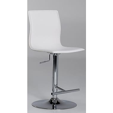 Matrix Klub 22'' Adjustable Swivel Bar Stool; White