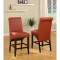 Modus Cosmo Sleigh Back Counter Stool (Set of 2); Sienna