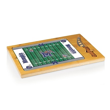 Picnic Time NCAA Football Icon Cutting Cheese Tray; University of Memphis Tigers
