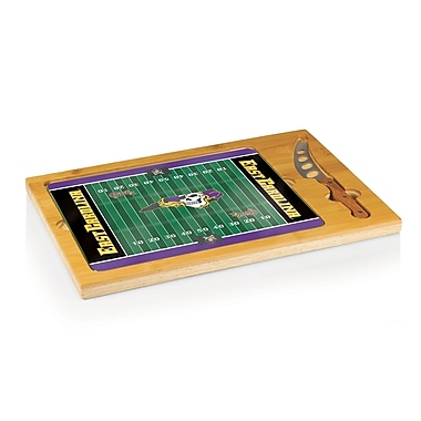 Picnic Time NCAA Football Icon Cutting Cheese Tray; East Carolina - Jolly Roger