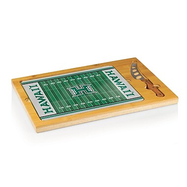 Picnic Time NCAA Football Icon Cutting Cheese Tray; University of Hawaii Warriors