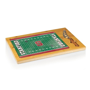 Picnic Time NCAA Football Icon Cutting Cheese Tray; Stanford University Cardinal