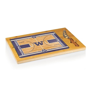 Picnic Time NCAA Icon Cutting Cheese Tray; University of Washington Huskies