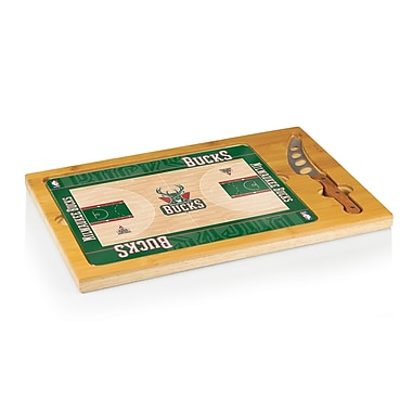 Picnic Time NBA Icon Cutting Cheese Board; Milwaukee Bucks