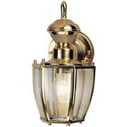 Heath-Zenith Traditional Coach 1 Light Outdoor Wall Lighting; Polished Brass