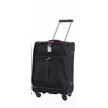 Jenni Chan Shanghai 21'' Upright Spinner Suitcase; Black