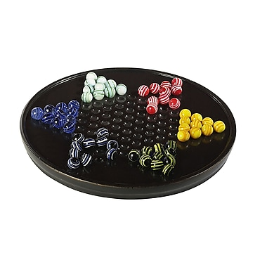 Authentic Models Chinese Checkers in Black