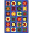 Joy Carpets Kid Essentials Perfect Fit Blue Area Rug; 10'9'' x 13'2''