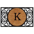 Home & More Circle Monogram Doormat; K