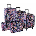 Jenni Chan Wild Flower 360 Quattro 5 Piece Luggage Set