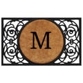 Home & More Circle Monogram Doormat; M