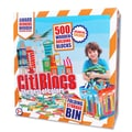 Citiblocs 500 Piece Multicolor Construction Set with Storage Bin