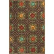 KAS Rugs Meridian Mocha Mosaic Outdoor Rug; 7'6'' x 9'6''
