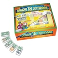 Puremco Dominoes Professional Colored Dots Double 18 Domino Game