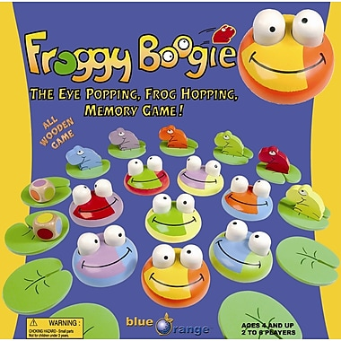 Blue Orange Froggy Boogie Memory Game