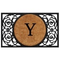 Home & More Circle Monogram Doormat; Y