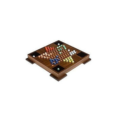Wood Expressions edfineteTeak Board with Glass Marbles Game