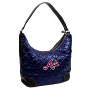 Little Earth MLB Quilted Hobo Bag; Atlanta Braves