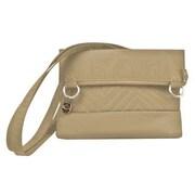 Travelon Quilted Fold-Over Shoulder Bag; Tan